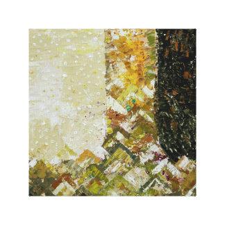 Mountain Abstract Oil Color Art Canvas Print
