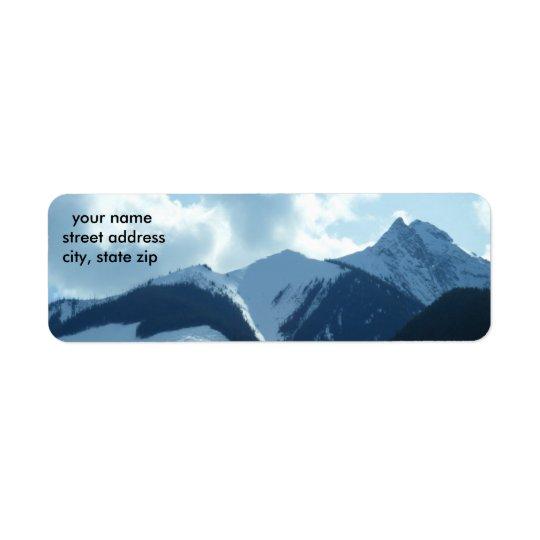 Mountain Address Label