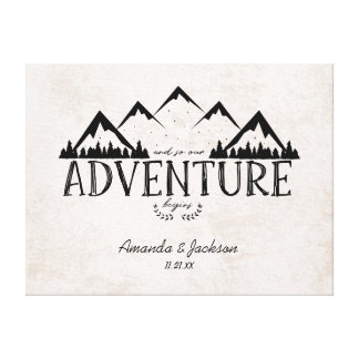 Mountain Adventure Alternative Wedding Guestbook
