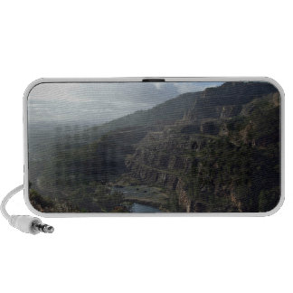 Mountain against blue sky notebook speakers