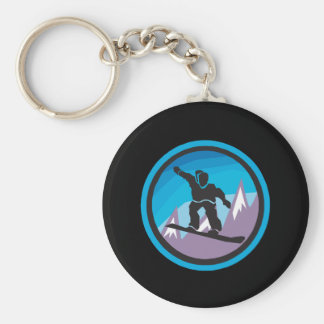 Mountain Air Basic Round Button Key Ring
