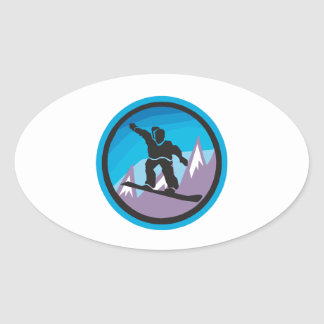 Mountain Air Oval Stickers