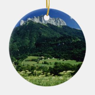 Mountain, Alps, France flowers Christmas Tree Ornament