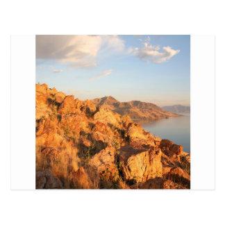 Mountain Antelope Island Sunset Postcard