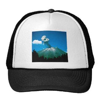 Mountain Arenal Erupting Costa Rica Mesh Hats