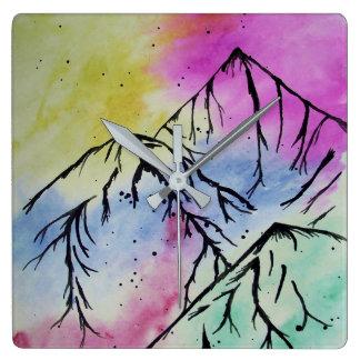Mountain art clock