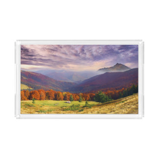 Mountain autumn landscape with forest 2