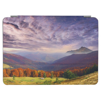 Mountain autumn landscape with forest 2 iPad air cover
