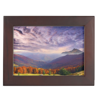Mountain autumn landscape with forest 2 keepsake boxes