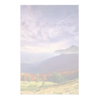 Mountain autumn landscape with forest 2 stationery