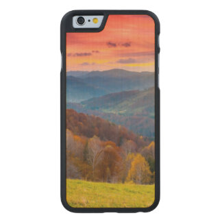 Mountain autumn landscape with forest carved maple iPhone 6 case
