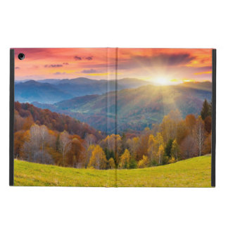 Mountain autumn landscape with forest case for iPad air