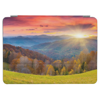 Mountain autumn landscape with forest iPad air cover