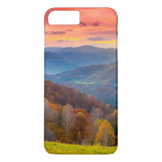 Mountain autumn landscape with forest iPhone 8 plus/7 plus case