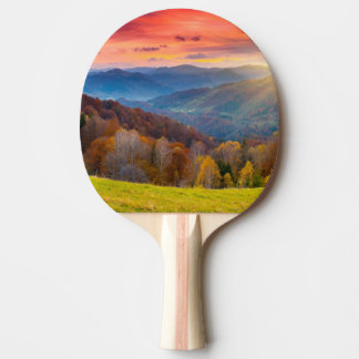 Mountain autumn landscape with forest ping pong paddle