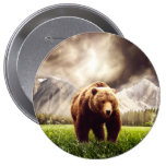 Mountain Bear 4 Inch Round Button