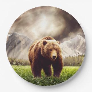 Mountain Bear Paper Plate