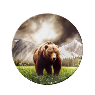 Mountain Bear Porcelain Plate
