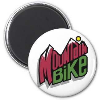 Mountain Bike 6 Cm Round Magnet