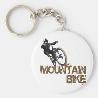 Mountain Bike Basic Round Button Key Ring