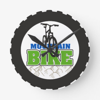 Mountain Bike Biking Round Clock