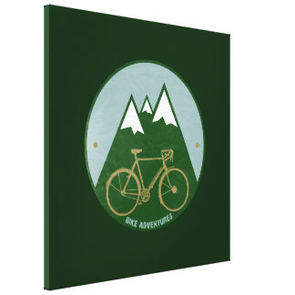 mountain bike decor wall stretched canvas print