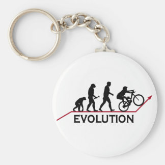 Mountain Bike Evolution Basic Round Button Key Ring