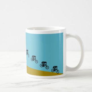 Mountain bike jump cup basic white mug
