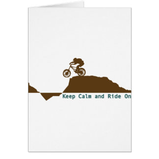 Mountain Bike - Keep Calm Greeting Card