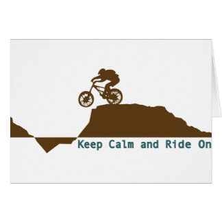 Mountain Bike - Keep Calm Card