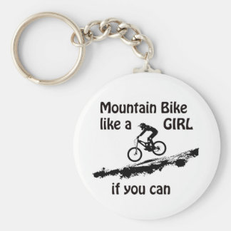 Mountain bike like a girl key ring