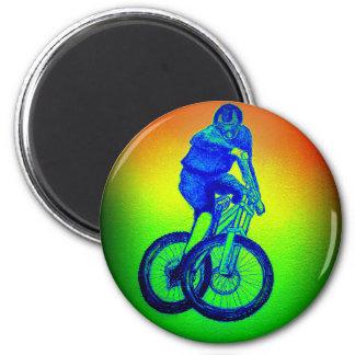 Mountain bike Llandegla mtb bmx 6 Cm Round Magnet