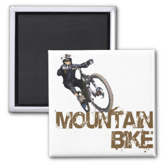 Mountain Bike Square Magnet