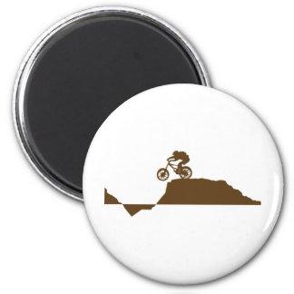 Mountain Bike 6 Cm Round Magnet