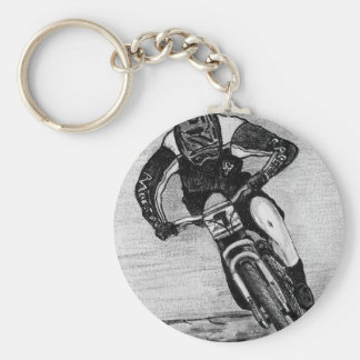 Mountain Bike Ride Basic Round Button Key Ring