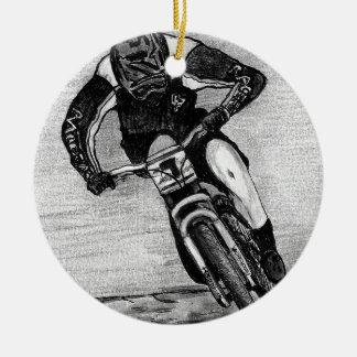 Mountain Bike Ride Round Ceramic Decoration