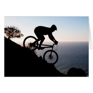 Mountain Bike Rider. Lions Head, Cape Town Card