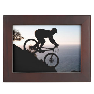 Mountain Bike Rider. Lions Head, Cape Town Keepsake Box