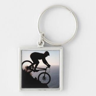 Mountain Bike Rider. Lions Head, Cape Town Key Ring