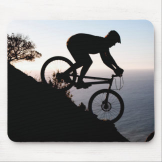 Mountain Bike Rider. Lions Head, Cape Town Mouse Mat
