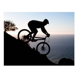 Mountain Bike Rider. Lions Head, Cape Town Postcard