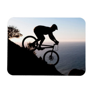Mountain Bike Rider. Lions Head, Cape Town Rectangular Photo Magnet