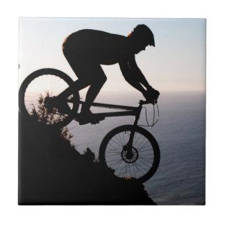 Mountain Bike Rider. Lions Head, Cape Town Tile