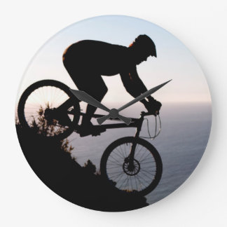Mountain Bike Rider. Lions Head, Cape Town Wall Clock