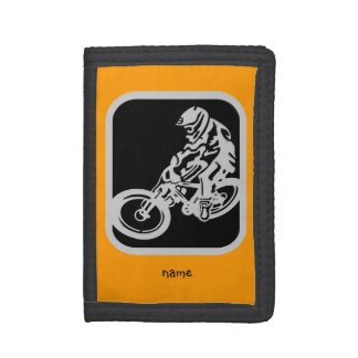 Mountain bike rider tri-fold wallet