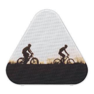 Mountain Bike Riders Make Their Way Over The Dam