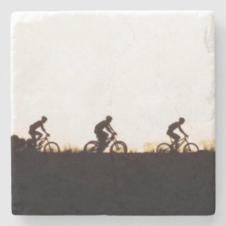 Mountain Bike Riders Make Their Way Over The Dam Stone Coaster