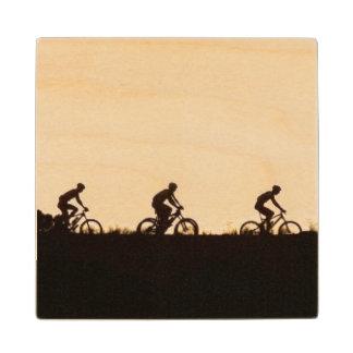 Mountain Bike Riders Make Their Way Over The Dam Wood Coaster