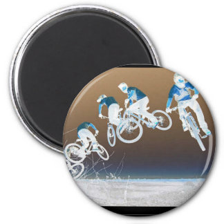 Mountain Bike Sequence 6 Cm Round Magnet