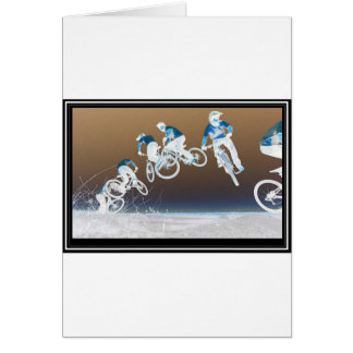 Mountain Bike Sequence Greeting Cards